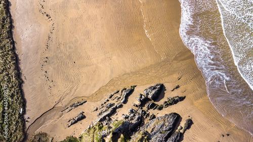 Canvastavla Aerail veiw of a Beach