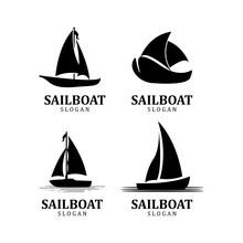 Asian Traditional Sailboat Symbol Design Logo