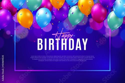 Foto Ballon Happy Birthday