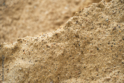 Foto wet sand surface for construction, close view