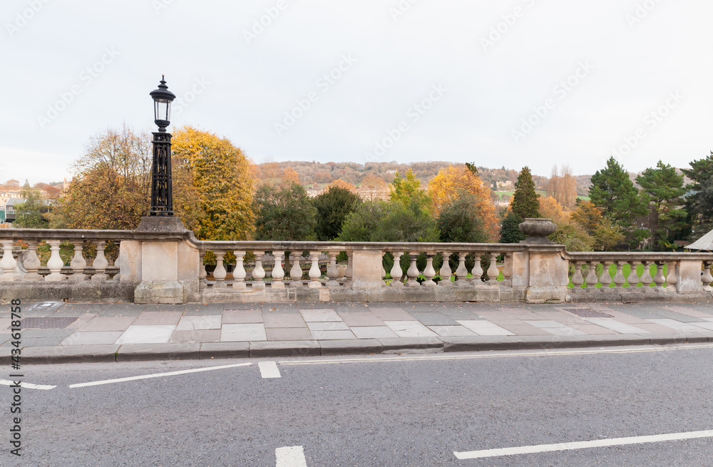 Grand Parade view with vintage street lamp