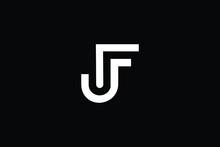 FJ Letter Logo Design. Creative Modern F J Letters Icon Vector Illustration.