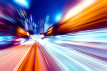 Abstract Image Of Night Traffic Light Trails In The Cityabstract;