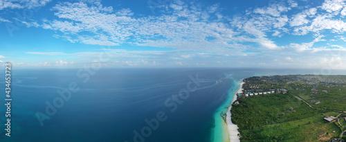 Fotografering Tropical Sea. Amazing bird eyes view in Zanzibar