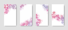Web Banners With Abstract Alcohol Ink Background, Liquid Design, Popular Trendy Texture For Social Media Or Brochures, Cover Design Layout For Web Design, Elegant Fluid Wallpaper Graphics