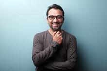 Portrait Of A Smiling Man Of Indian Origin