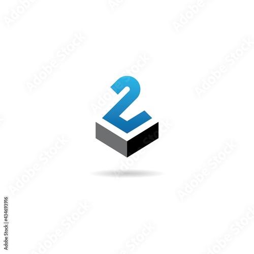 Fotografia number 2 with charter logo design icon inspiration