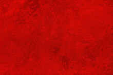 Texture Of Red Decorative Plaster Or Concrete. Abstract Grunge Background.