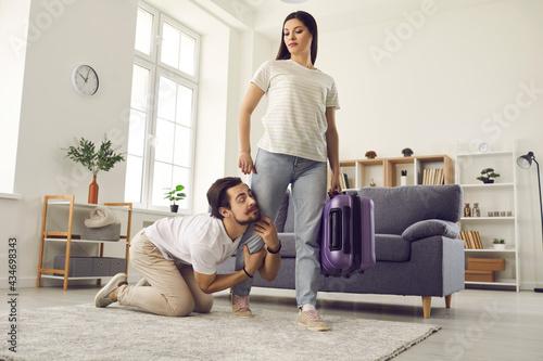 Obraz na płótnie Young couple breaking up