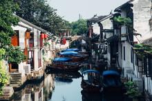 Beautiful Scenery Of Zhouzhuang Ancient Town In Suzhou, China
