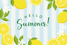 Vector Background With Lemons For Banners, Cards, Flyers, Social Media Wallpapers, Etc.