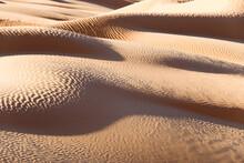 Abstract Sand Dunes Landscape, Desert Of Sahara, South Tunisia