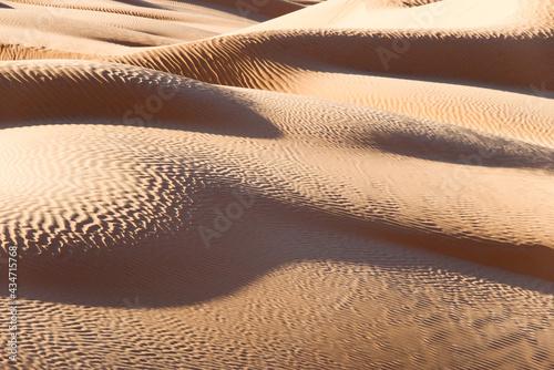Tableau sur Toile Abstract sand dunes landscape, desert of Sahara, South Tunisia