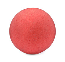 One Red Bath Bomb Isolated On White