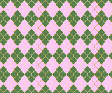 Quatrefoil Pattern, Argyle Seamless Background.