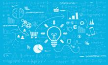 Sfondo, Grafica, Idea, Lavagna, Investimento, Matematica, Start Up