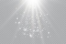 Vector Transparent Sunlight Special Lens Flash Light Effect