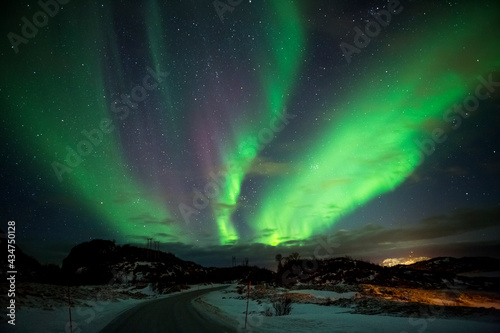 zorza polarna, Norwegia Fototapet