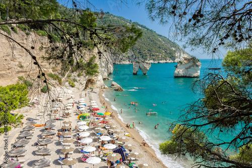 Stampa su Tela Baia dei Faraglioni sul Gargano in Puglia