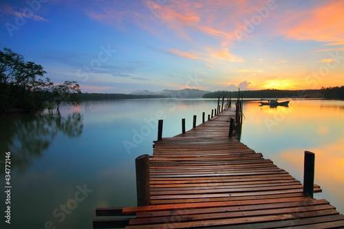 Billede på lærred paisagem do horizonte no pier