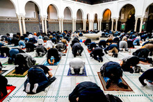 First Friday Prayer At The Paris Great Mosque After COVID-19 Lockdown. Paris, France.