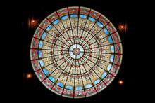 Saint Philippe Du Roule Church, Paris, France. Rose Window