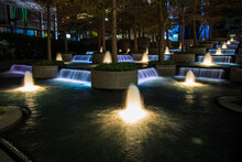 Fountains In Downtown Dallas