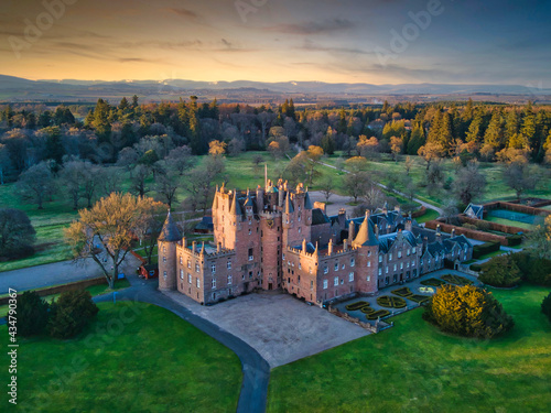 Glamis Castle Angus Scotland Fotobehang