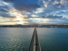 Tay Bridge View For Dundee City Scotland