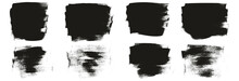 Flat Calligraphy Paint Brush Regular Short Background High Detail Abstract Vector Background Set