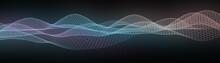 パーティクル テクノロジー テンプレ素材 ワイヤーフレーム グラデーション