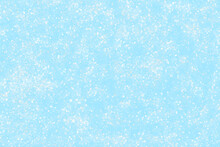Blue Frozen Snow Effect With Watercolor Crystal Frost Glitter Ice Sky Shiny Snowfall Winter