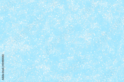 Valokuvatapetti Blue frozen snow effect with watercolor crystal frost glitter ice sky shiny snow