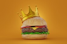 Cheeseburger With Crown