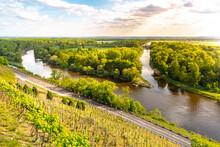 Confluence Of Labe River, Vltava River And Vranansko-horinsky Channel In Melnik, Czech Republic