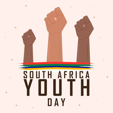 June 16, South African Youth Day. Card, Banner, Poster, Background Design. Vector Illustration.