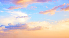 Beautiful Colorful Sky With Cloud Before Sunset