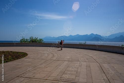 Fotografie, Obraz Observation deck at karaalioglu park in Antalya