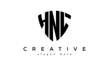 HNL Letter Creative Logo With Shield