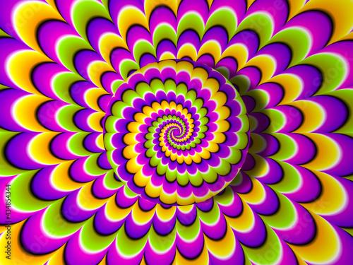 Slika na platnu Colorful background with growing sphere