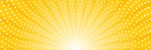 Abstract Background With Sun Ray And Dots. Summer Vector Illustration