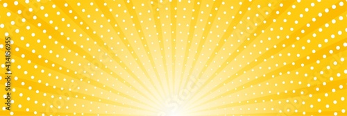 Stampa su Tela Abstract background with sun ray and dots