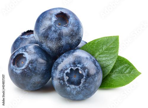 Fotografia Organic blueberry isolated on white background