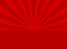 Sunlight Abstract Background. Red Color Burst Background.