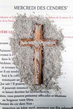 Catholic Mass. Ash Wednesday Celebration. Ashes And Lectionary.  Lent Season.  Catholic Church.  France.