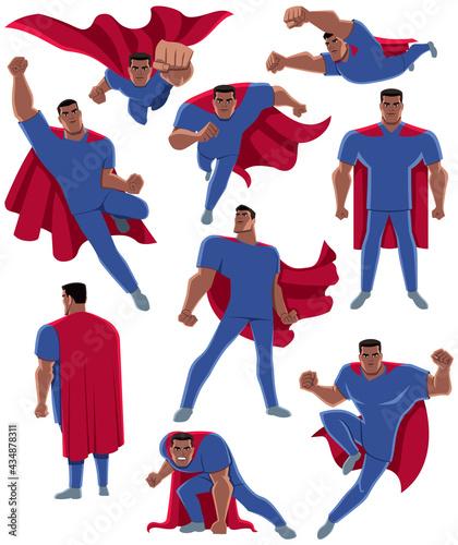 Obraz na plátně Indian Healthcare Worker Superhero