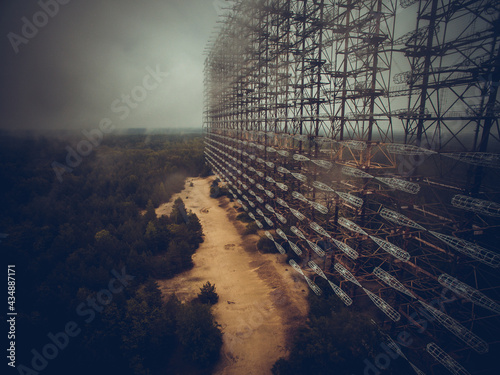 Soviet Horizont radar station Duga in Chernobyl Exclusion Zone, Ukraine Fototapet