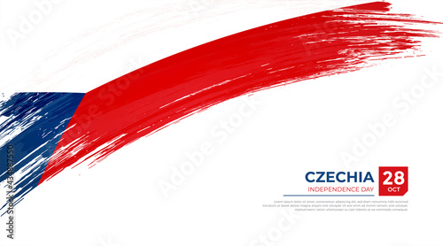 Fotografiet Flag of Czechia country