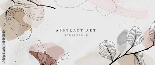 Fotografiet Abstract watercolor art background vector