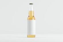 Beer Bottle Mockup 3D Illustration